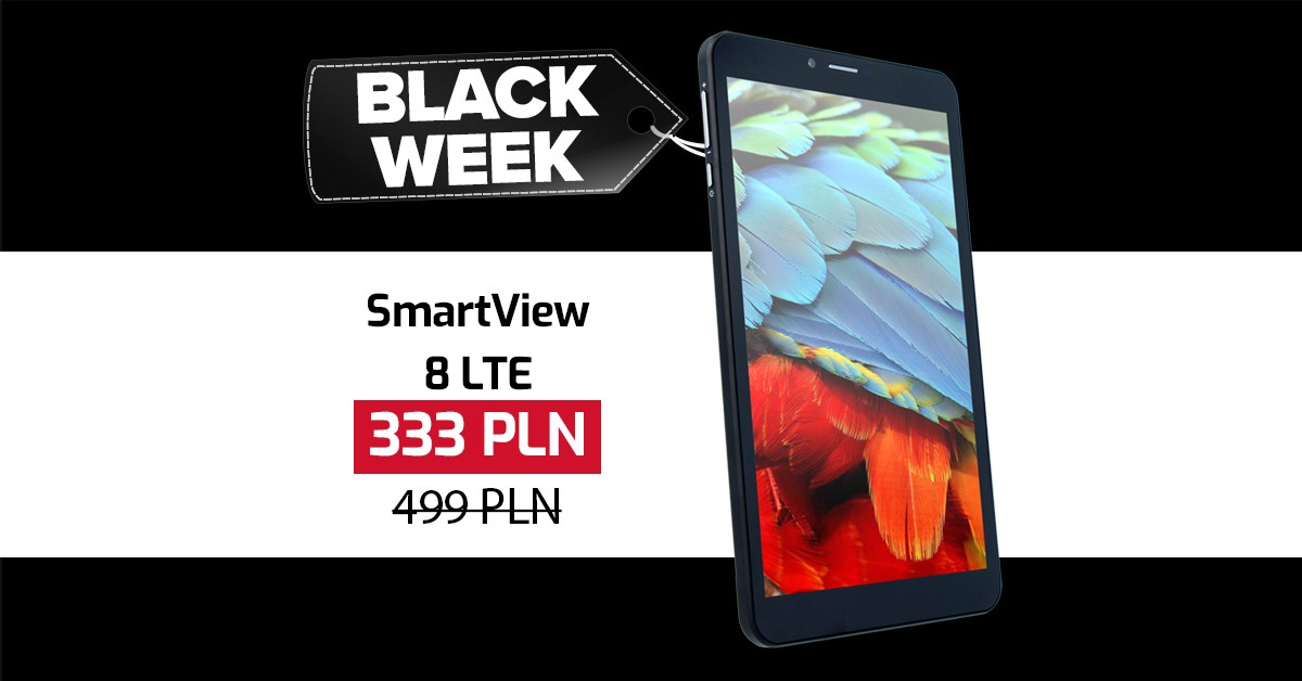 SmartView 8 LTE Black Week